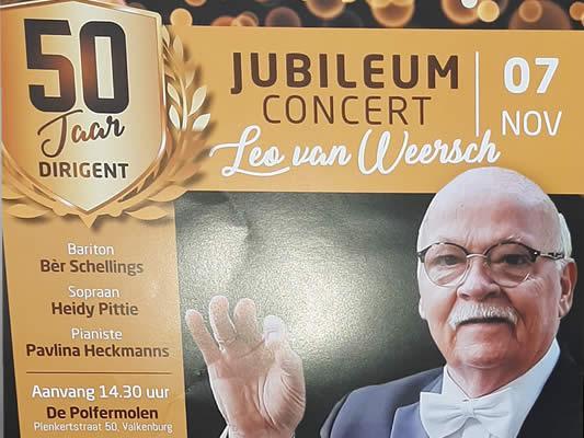 Jubileumconcert Leo van Weersch 50 Jaar dirigent